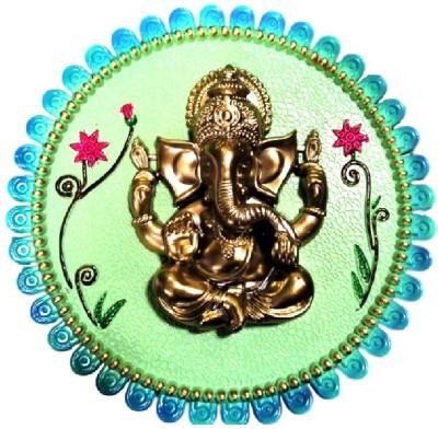 Divine Temples Colorful & Attractive Ganesha - (23 cm) Showpiece  -  3 cm(Plastic, Multicolor)