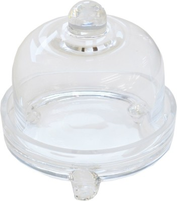 Ambience Interior Mall Bell Shaped Tray Showpiece  -  10 cm(Glass, Clear)