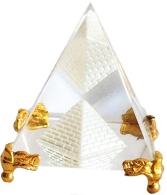 Anjalika Feng Shui Crystal Pyramid With Stand Showpiece - 5 cm