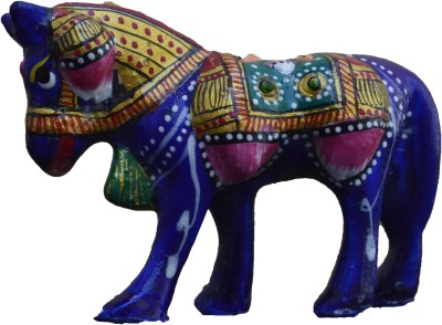eCraftIndia Meenakari Metallic Colorful Horse Showpiece  -  5.1 cm