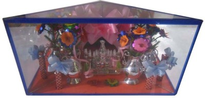 Homedesires Tajmahal Showpiece  -  15 cm(Glass, Multicolor)
