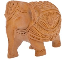 Thart 5 inch Shikar design Elephant Showpiece  -  10.5 cm(Wooden, Multicolor)