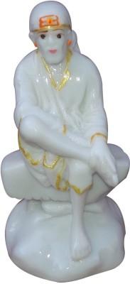 Shubh Store Marble Sai Baba Idol Showpiece  -  9 cm