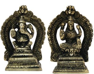 Divya Mantra Brass Laxmi Ganesh Idol Showpiece  -  7.5 cm