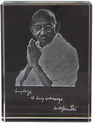Eternal Gandhi Gandhi Photo Block Showpiece  -  8 cm