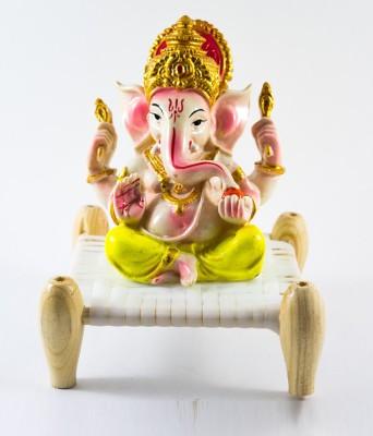 GiftsCellar Ganesh Ji Sitting On Charpai Showpiece  -  22 cm