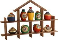 Unravel India Showpiece  -  28 cm(Wooden, Terracotta, Multicolor) best price on Flipkart @ Rs. 2649
