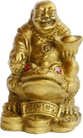 Anjalika Laughing Buddha With Ingot On King Money Frog Showpiece  -  7 cm(Polyresin, Beige) best price on Flipkart @ Rs. 450