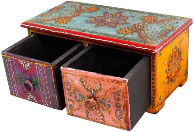 Halowishes 2 Compartments Wood Drawer Set