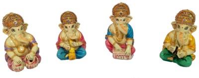 Handicrafts Ganesha musician set Showpiece  -  10 cm