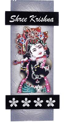 Lord Krishna Handicrafts Wooden Shree Krishna Key Holder Showpiece  -  34 cm