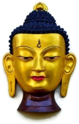 Collectible India Unique Antique Finish 15 Inches Large Buddha Wall Hanging mask Sculpture - Face d��cor Showpiece  -  38.1 cm