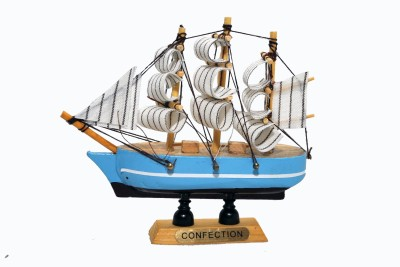 NoVowels Wooden Handicraft Ship 5Inch/12cm Showpiece  -  12 cm(Wooden, Multicolor)