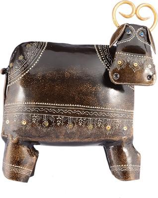Arabian Nights Decorative Copper Cow Showpiece  -  24.9 cm