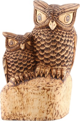 Furncoms Standing Owl with child Showpiece  -  25 cm
