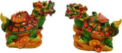 Anjalika Feng Shui Dragon Tortoise Pair Showpiece - 7 cm
