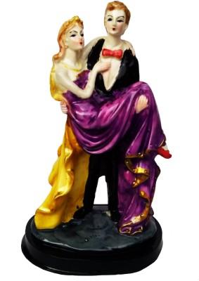AnnKay Handicrafts Designer Romantic Couple Showpiece  -  23 cm