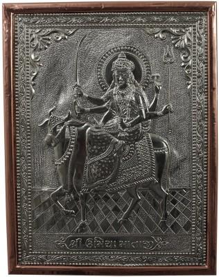Kapasi Handicrafts German Silver Goddess Umiya Wall Piece Showpiece  -  2.5 cm
