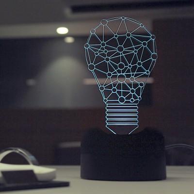 Lab No. 4 Creative Light Bulb Showpiece  -  16.6 cm