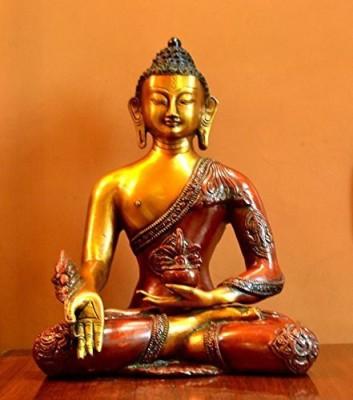 Collectible India Ashtmangal Medicine Buddha Sculpture , BirthDay Gift Showpiece - 26 cm