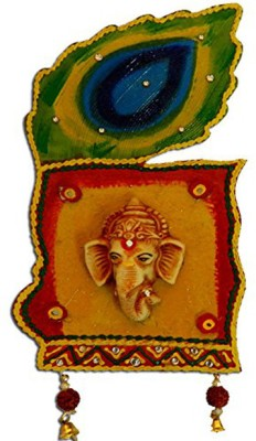 Anant Mor Peacock Ganesha Wall Hanging Showpiece  -  23 cm