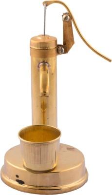 eCraftIndia Antique Hand Pump Showpiece  -  12 cm(Brass, Red, Brown)