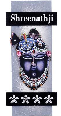 Lord Krishna Handicrafts Wooden Shree Nath Ji Key Holder Showpiece  -  34 cm