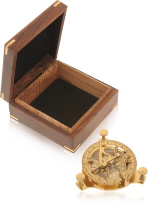 Home Sparkle Sundial Compass with Box Showpiece  -  12 cm