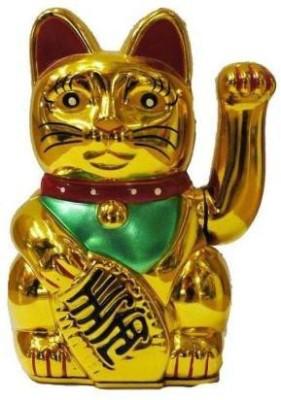 Shubh-Bhakti Feng Shui Vastu Energize Lucky Cat Showpiece - 15.2 cm