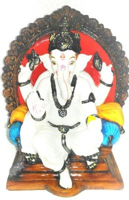 Giftwell White Ganesha Showpiece  -  27 cm