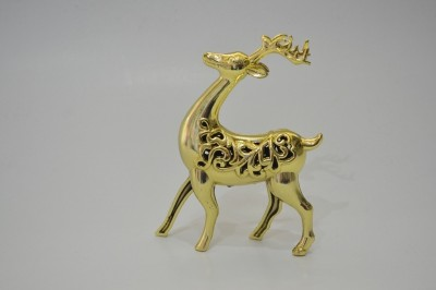 BMS Lifestyle Reindeer Gold Showpiece  -  20 cm