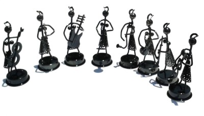 Gooddeals Nut Bolt Screws Metal Musical Girls Orchestra Band Figurine Set Showpiece  -  11 cm