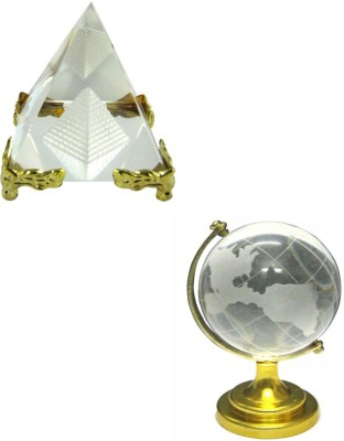 Shakti Education Pyramid and Education Globe For Academic Success For Child's Study Table Showpiece  -  5 cm