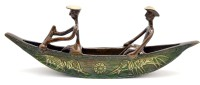 Handecor Long Kerela Boat Showpiece  -  11 cm(Brass, Multicolor)