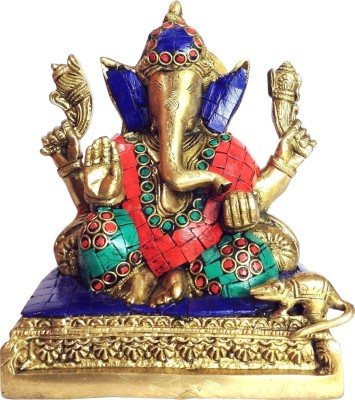 The Crafts House Brass Ganesha Showpiece  -  16.5 cm