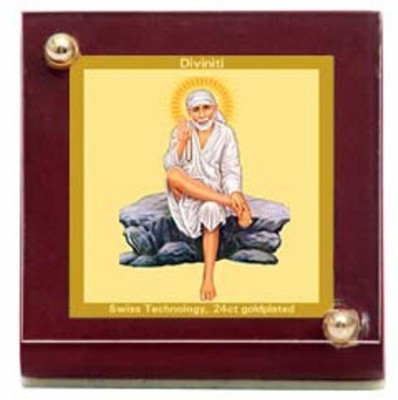 Sitare Sai Baba Swizz made 24 kt Gold Foil Showpiece  -  6.0 cm