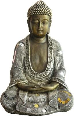 GiftsGannet Sitting Buddha Showpiece  -  22 cm