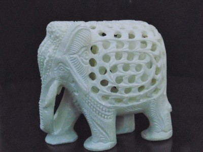 Pooja Creation Beautiful Elephant For DéCor Showpiece  -  11 cm