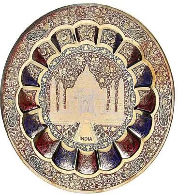 Inspiration World Vintage TajMahal Wall Decor Plate Showpiece  -  23 cm