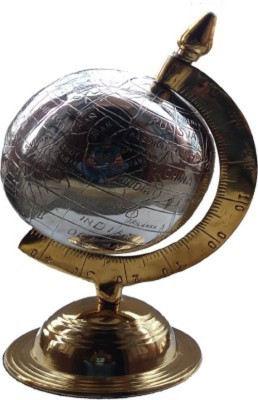 Homestyle India Brass Handcrafted Globe Showpiece  -  27 cm