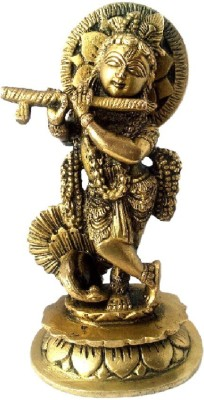 Divine Temples Showpiece  -  15 cm(Brass, Gold)