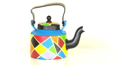 SCRAPSHALA multicolored abstract kettle Showpiece  -  17 cm