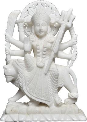 Artist Haat Hand Carved White Marble Showpiece  -  10 cm