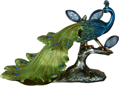 GiftsGannet Antique Peacock Showpiece  -  23 cm