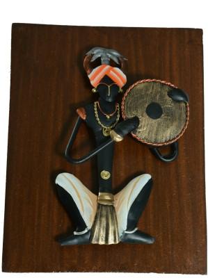 Lavanaya Board Musician Dhapli Showpiece  -  20 cm