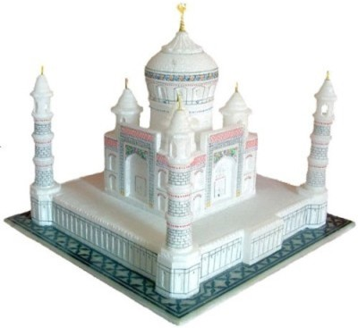Pooja Creation Taj Mahal Built By Orignal Marble Showpiece  -  30 cm