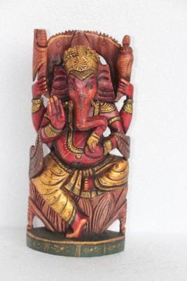 Prachin Art Gallary Wooden Ganesha Showpiece  -  26 cm