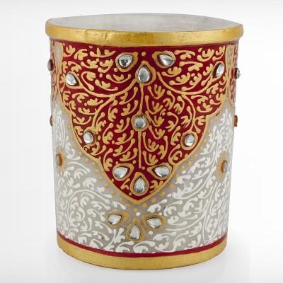 Sanskriti Objects Marble Pen Holder Showpiece  -  10 cm