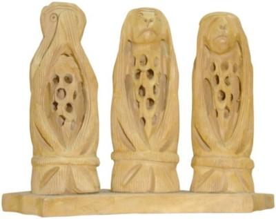 ByCue Wooden Gandhi Monkey Showpiece  -  3 cm(Wooden, Brown)