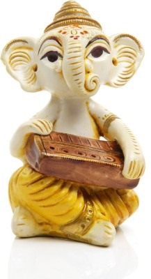 Adaa Lord Ganesha with Musical Instrument - Piano Showpiece  -  10 cm